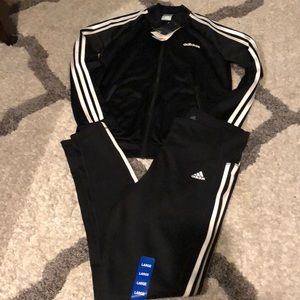 Adidas women's leggings and jacket size L